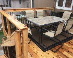 Cedar Deck & Railing With Iron Spindles