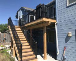 Trex Composite Deck, Aluminum Railing, Cedar Fascia & /risers