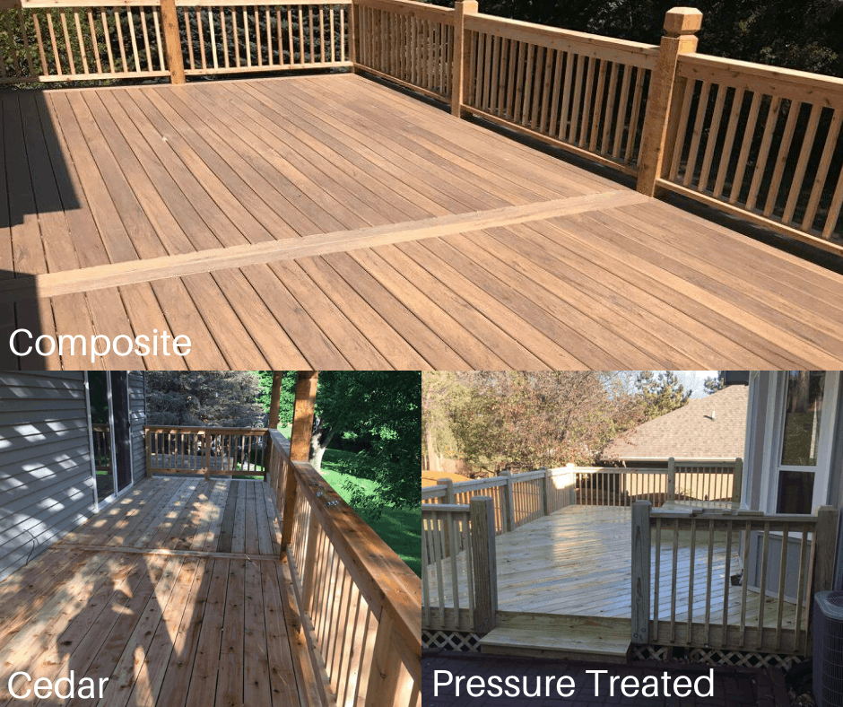 Different materials to build your deck from